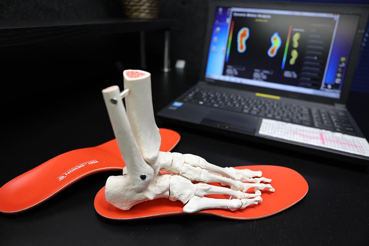 足の状態を確認するためのデータ